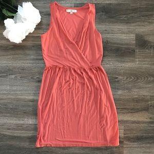 LOFT orange cotton dress, size Small